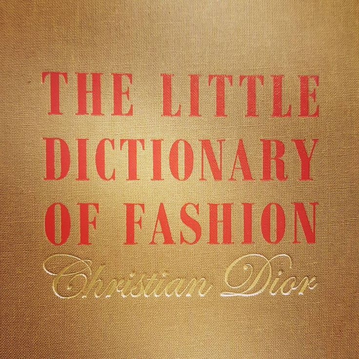 A special book from a very special person #dior #inspiration #gift #instagood #instadaily #fashion #dictionary