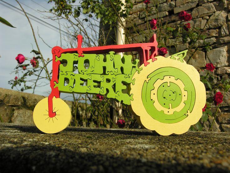 Puzzle et decor en tracteur john deer : Décorations murales par boisdeveil