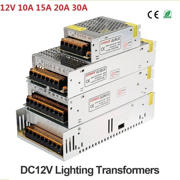 Dc 12v5 10a 15a 20a 30a Regulated Switching Power Supply Adapter Transformer For Cctv Security System Led Strip Light Computer Project Cctv Security Systems Strip Lighting Computer Projects