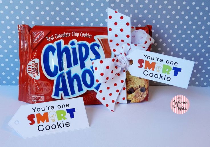 You Are One Smart Cookie Tags  Labels for Teacher Appreciation
