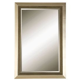 Allen Roth 24 In X 36 Metal Leaf Rectangle Framed Wall Mirror 69