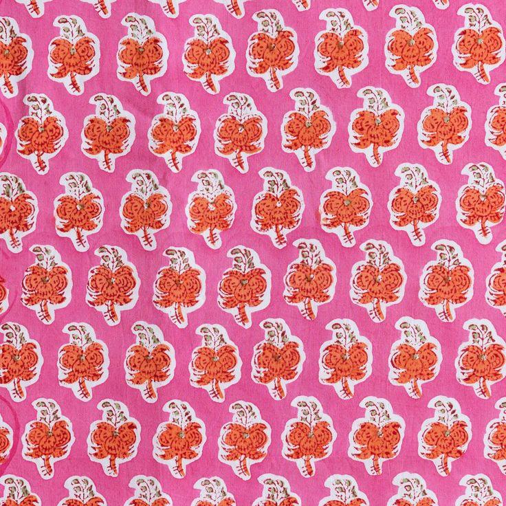 Spice in pink/orange Pink, Orange, Floor cloth