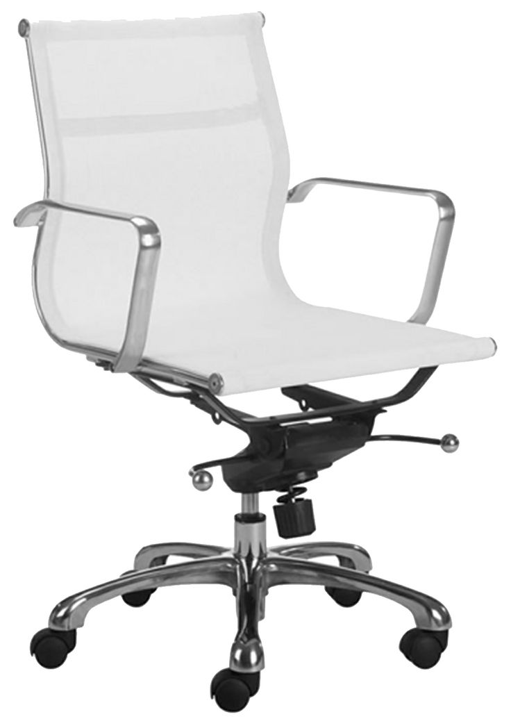 ALUMINUM / MESH LOW BACK OFFICE CHAIR