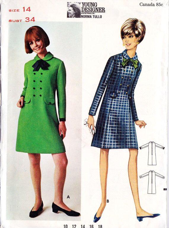 101 besten 60s Dress Pattern images Bilder auf Pinterest | 60er ...