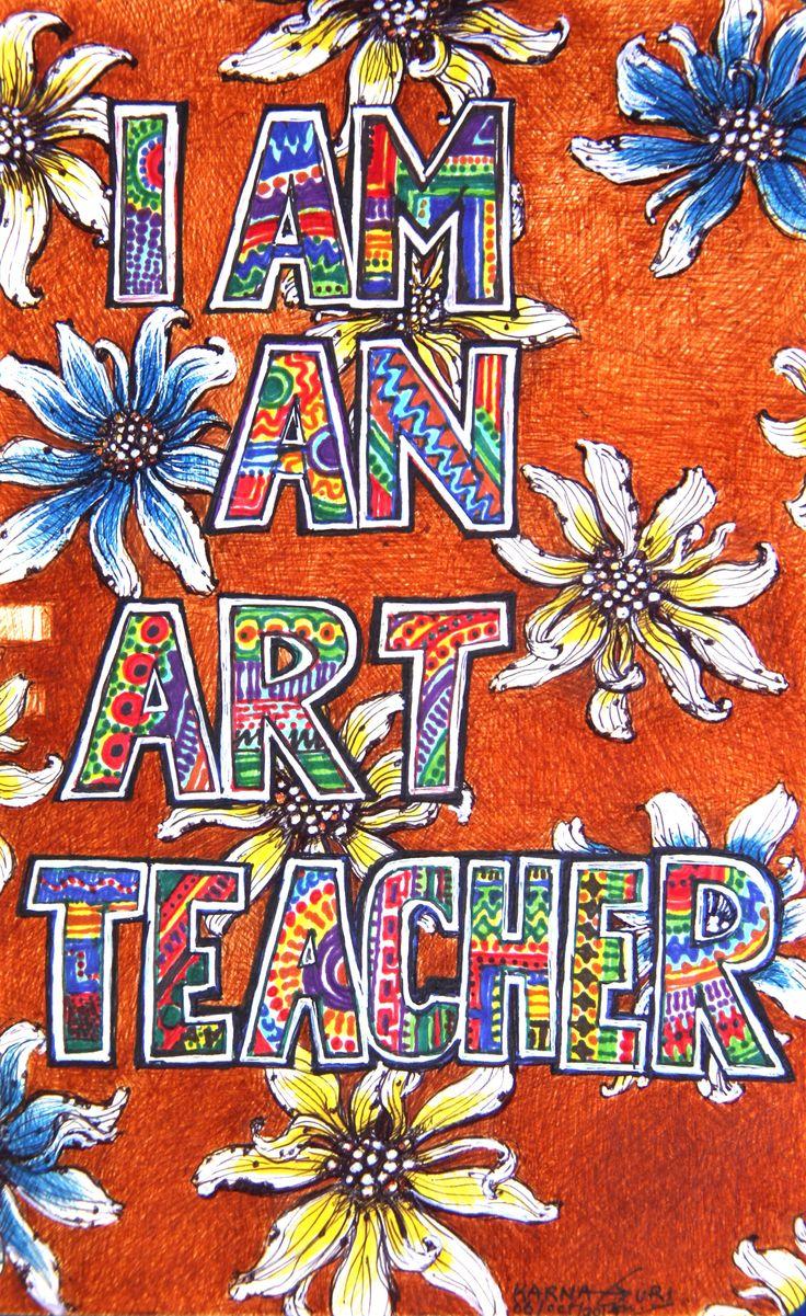 I am a Fart Teacher - Mixed Media on Paper