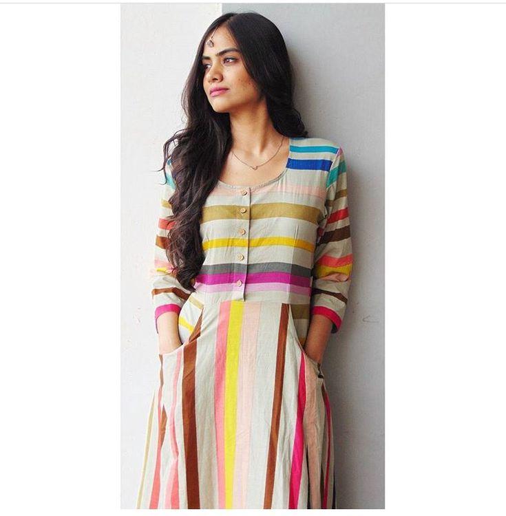 Rivaaj Jaipur # colourful Stripes # tunic# fun brunch #