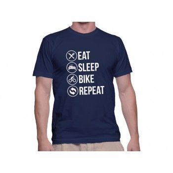 Tricou Capital T Eat Sleep Navy Blue