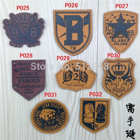 leather label / DIY Sewing leather label / Garment patch sewing label (100pcs/Lot)