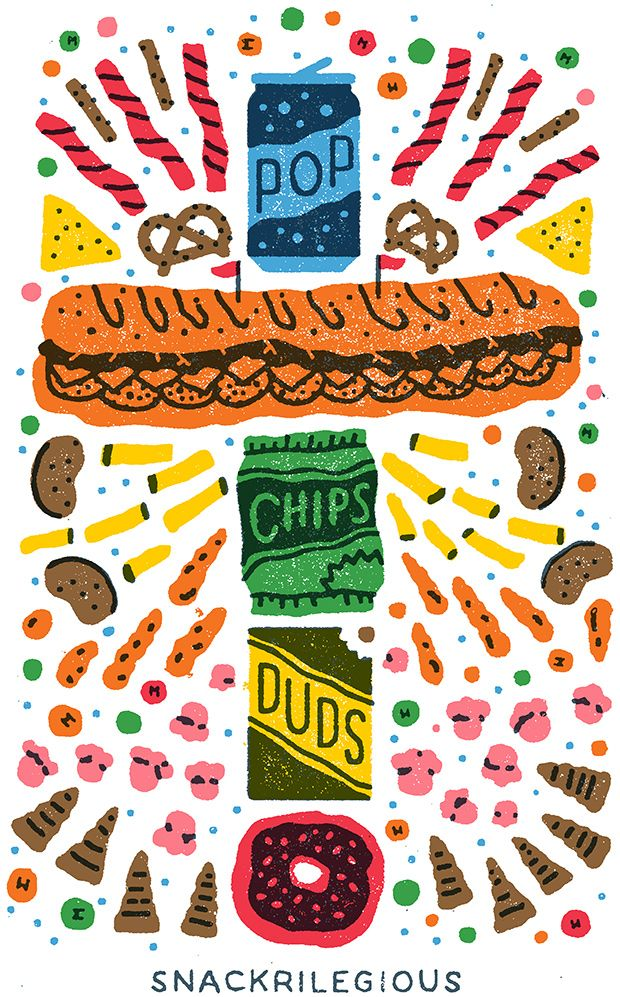 Junk food illustration. Yum! For more creative inspiration, visit www.designisyay.com