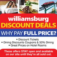 Go Williamsburg - Hotels, Shopping, Places to Eat, Discount Tickets and Things to Do in Williamsburg, VA