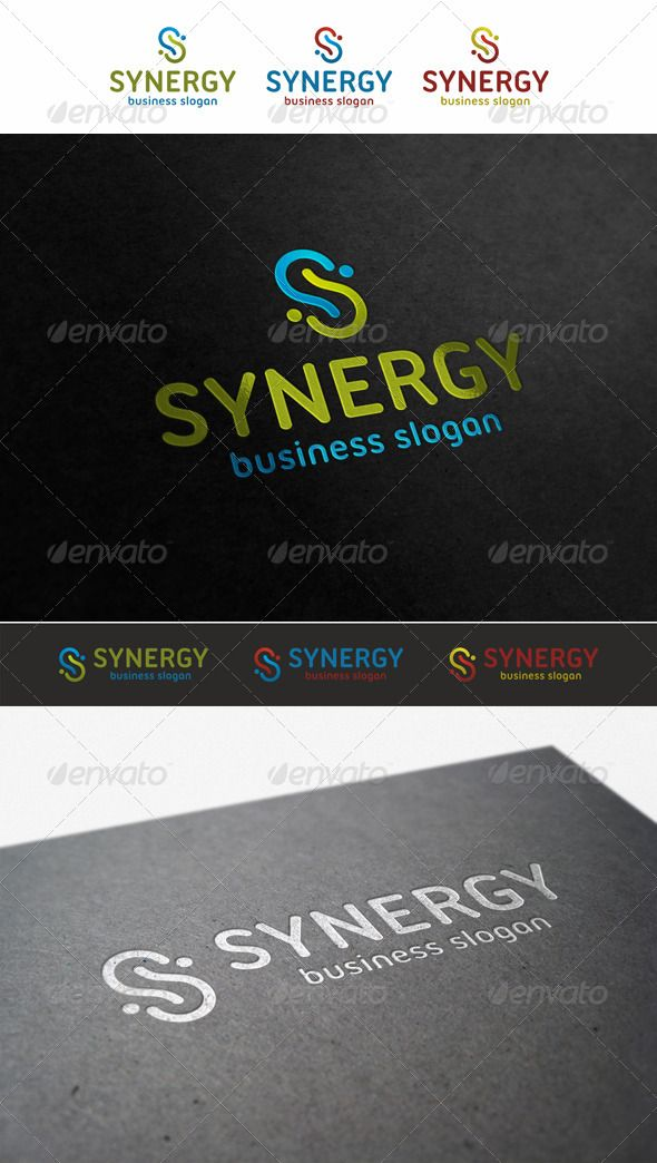 Synergy – S Logo Business Template. An excellent logo template suitable for technology, communications, software development businesses, design, print and photography businesses. Ideal logo for business companies, financial corporations etc. Also suitable for any web startup projects, social communities, e-shops, search systems etc.