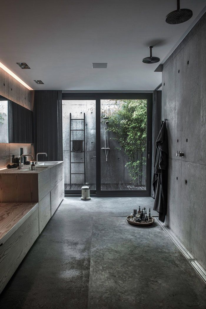 Concrete bathroom …