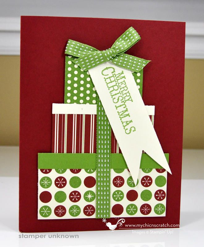 Cute Christmas Present Card...with a gift tag...mychicnscratch.
