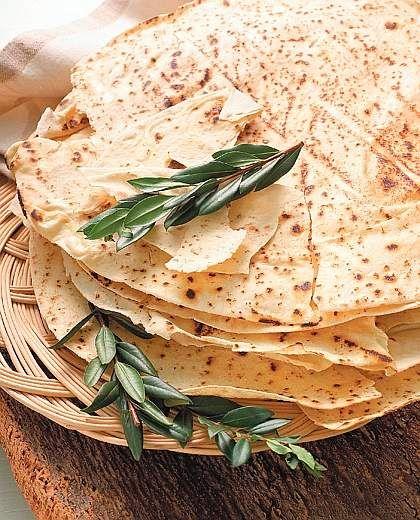Pane carasau (a typical sardinian bread) which i have heard called Carta di Musica too. Wonderful stuff!