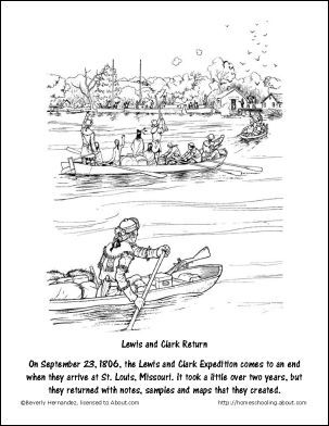 Free Lewis and Clark Printable Worksheets and Coloring ...