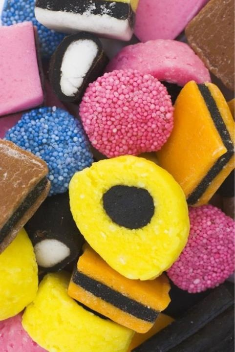 colorful candies liquorice allsorts