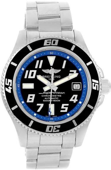 Breitling Superocean A17364 Stainless Steel Black Blue Dial 42mm Mens Watch  #style #luxury #swissmade #watches #fashion  #men #style #breitling #aviator