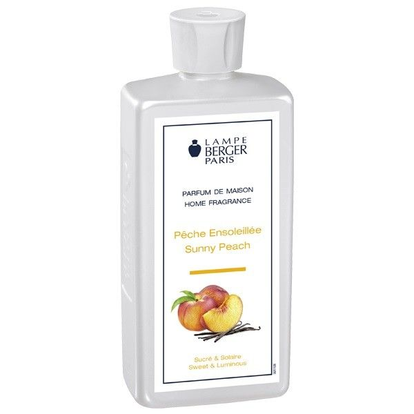 Sunny Peach  500 ml Lampe Berger    'Pêche Ensoleillée' is a bright and cheerful fragrance with a fruity, creamy texture, combining a floral aroma of rose and jasmine enhanced by the freshness of newly recolectaldo with a sweet peach and sandalwood and vanilla background. This Lampe Berger composition has a content of 500 ml    https://www.maisonparfum.com/en/refills/1229-sunny-peach-500-ml-lampe-berger-3127291153110.html    #perfume #homefragrances #parfum