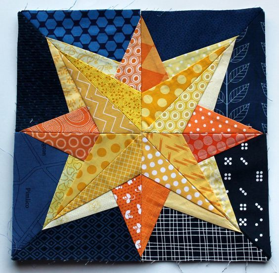 Yes, another pattern from Quilting on the Square's free Bonus Compass blocks… this time I went with their twinkle pattern. A lovely little pattern taking just 32 pieces.-- paper pieced star