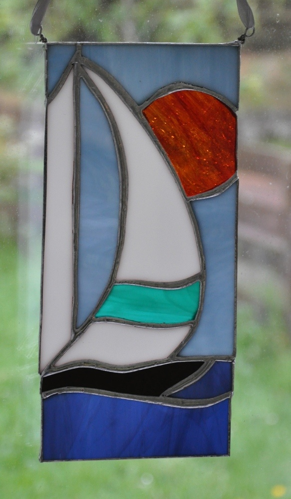 Stained Glass Boat Picture £22.00