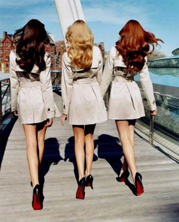 Brunette, blonde, and red head :) my two besties are blonde and red head!! Love you both Jes and Ash