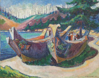 War Canoes, Alert Bay Emily Carr