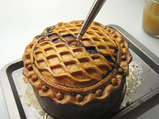 Medieval Game Pie. A multi-day project. Beautiful.