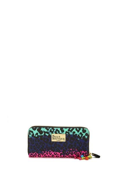 Paul's Boutique Lizzie Purse in rainbow leopard-pink/teal/navy