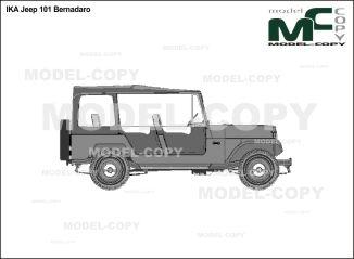 IKA Jeep 101 Bernadaro - drawing (ai, cdr, cdw, dwg, dxf, eps, gif, jpg, pdf, pct, psd, svg, tif, bmp)