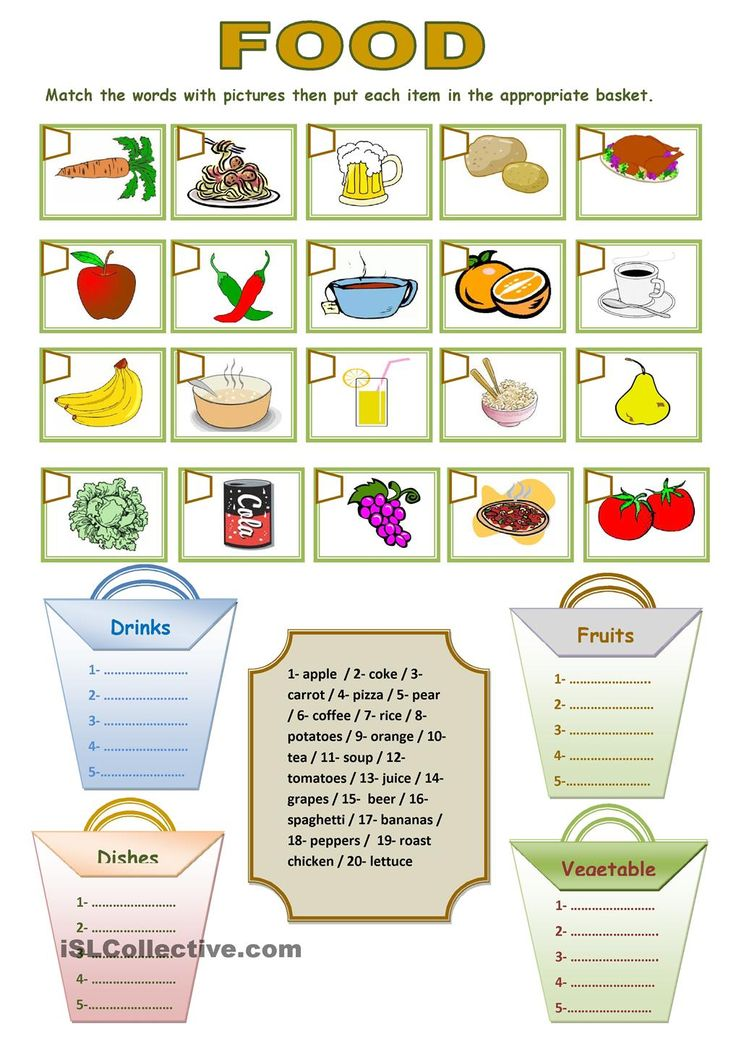 Food Labels Learning Sheets and Worksheets