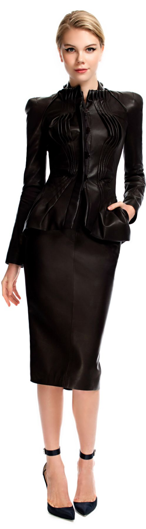 Absolutely Gorgeous, espresso Leather Suit - Weekend Fashion, Career Fashion Can Be Worn At Company Event - I Must Have This Suit - Zac Posen