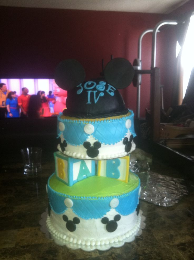 mickey mouse baby shower cake cakes by cindy pinterest