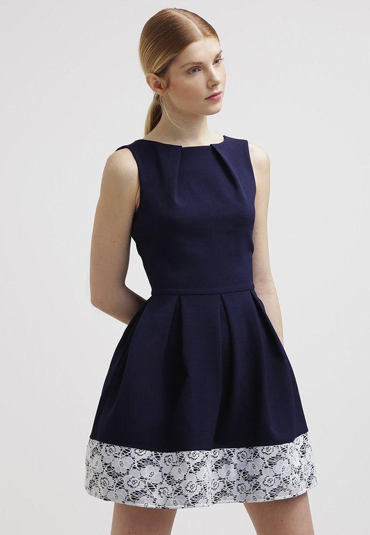 Vestido corto de cóctel color azul