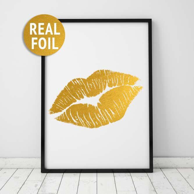 Fashion Wall Decor 33 best home decor prints images on pinterest | gold foil print