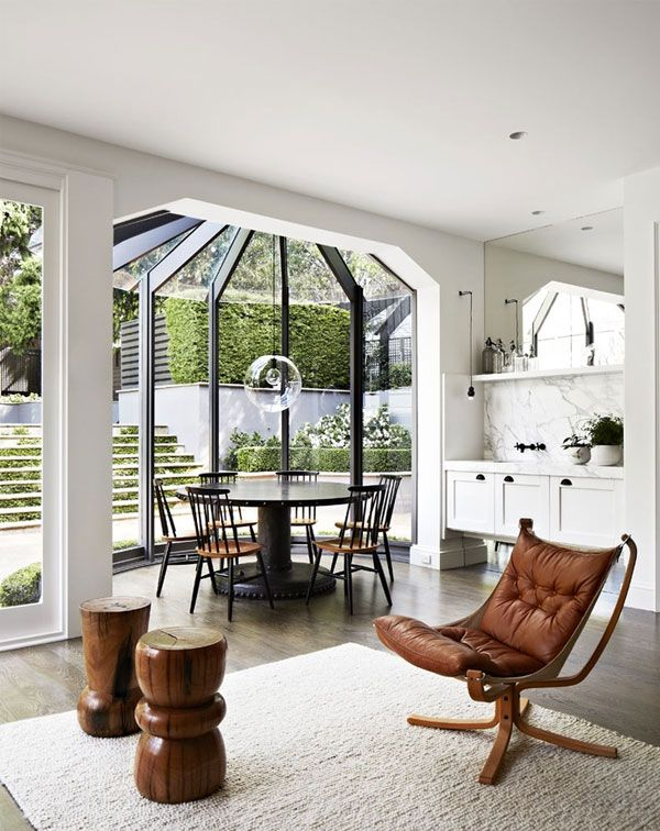 Designer-Files-Hecker-Guthrie-4 - look at the marble, the aawesome window and the smart landscaping outside. IDEAL
