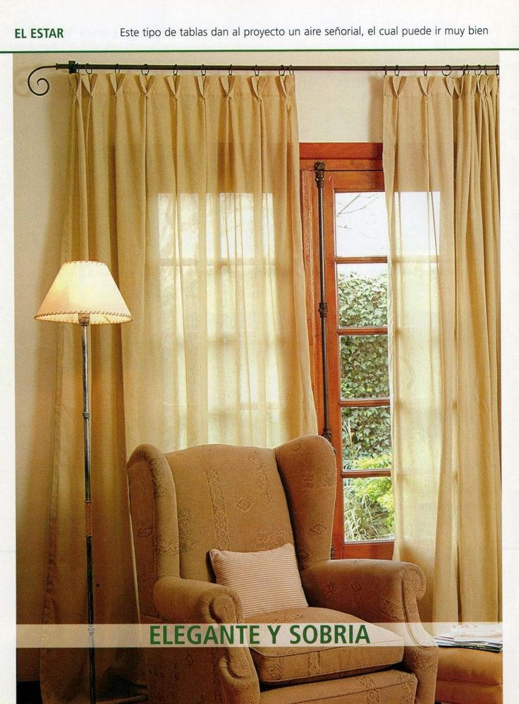 13 best como hacer cortinas images on pinterest make - Como hacer cortinas ...
