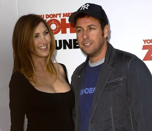 ADAM SANDLER The comedic actor's wife also acts, but that's thanks to him. Before they met, Sandler's wife Jackie Sandler was working as a model and was a huge fan of his.