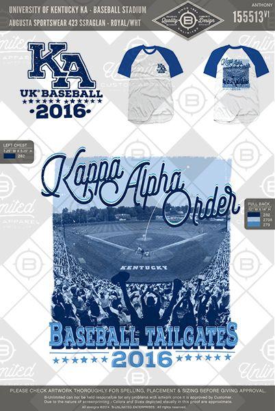 University of Kentucky Kappa Alpha Order #BUnlimited #BUonYOU #customgreekapparel#greektshirts #fraternity #sorority#greeklife #tshirts #tanks #baseball #gameday #sports #pr #parentsweekend #tailgate