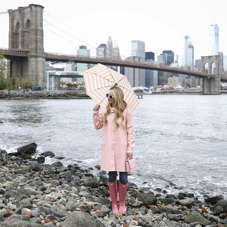 """17.6k Likes, 242 Comments - Blair Eadie / Atlantic-Pacific (@blaireadiebee) on Instagram: """"<adding a little pink to a day // my love for rain gear runs deep and this new raincoat is an…"""" #RaincoatsForWomenTravel #RaincoatsForWomenRainyDays"""