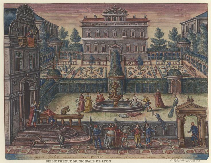 House with garden by Peeter van der Borcht, 16th century. Bibliothèque Municipale De Lyon, Public Domain