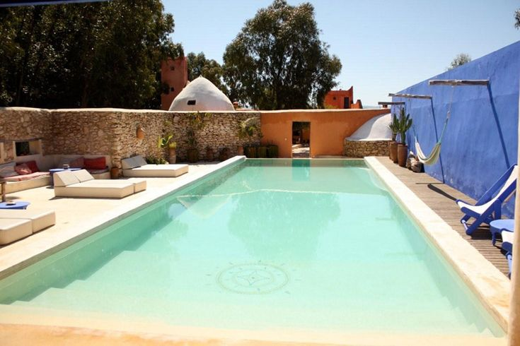 Riad baoussala has a separate min cottage by the pool for five