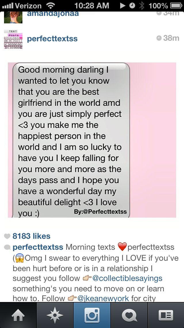 Good morning texts | Cute texts | Pinterest