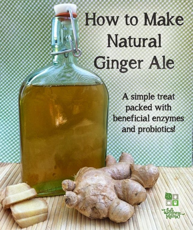 """Homemade ginger ale is soothing for digestive disturbances and contains probiotics and enzymes. This natural recipe for ginger ale uses fresh ginger and a cultured ginger mixture (called a ginger bug) to create a naturally fermented and naturally fizzy ginger ale. Here's how to make it[...]"" Original source: http://wellnessmama.com/8945/natural-ginger-ale/"