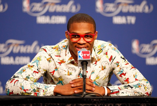 Russell Westbrook. His outfits crack me up!