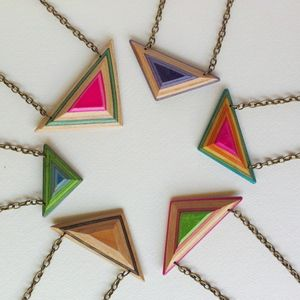 Image of Skateboard Necklace Triangle Shard - Deadwood Creative