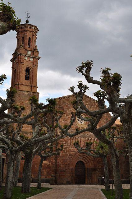 Façade de l'église abbatiale, monastère royal de Santa María de Veruela, Vera de Moncayo, province de Saragosse, Aragon, Espagne. #Spain