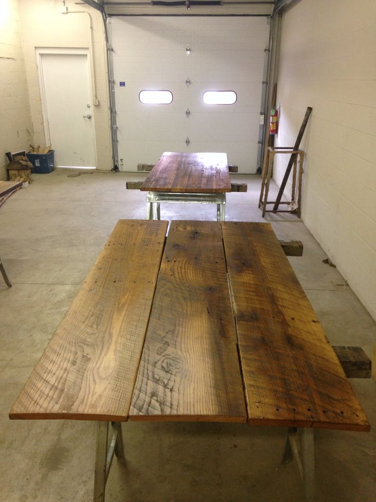 Churchill Downs wide plank table reclaimed wood