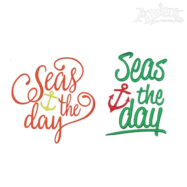 Seas The Day Embroidery Design