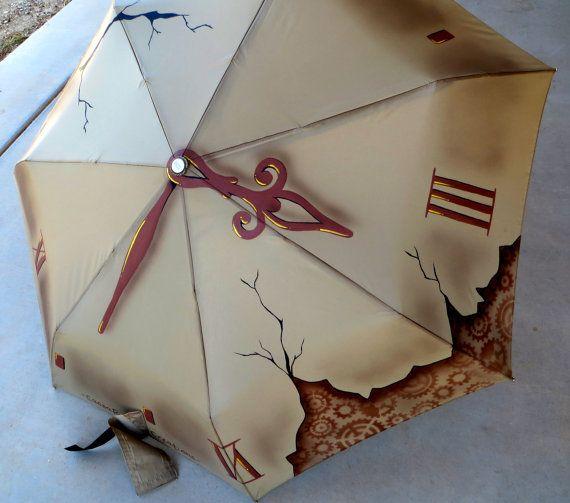 Steampunk Umbrella by CassaRaptorCreations on Etsy