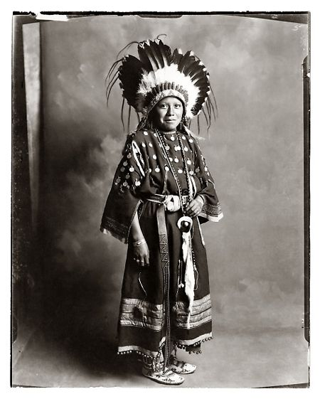 Ute Indian Girl |  Photographed in the early 1900s, by William Pennington and Lisle Updike